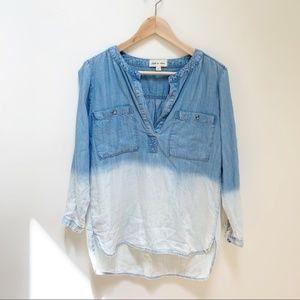 cloth & stone chambray ombre shirt XS